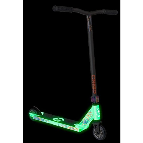 Crisp Blaster Pro Stunt Scooter, White / Satin Grey