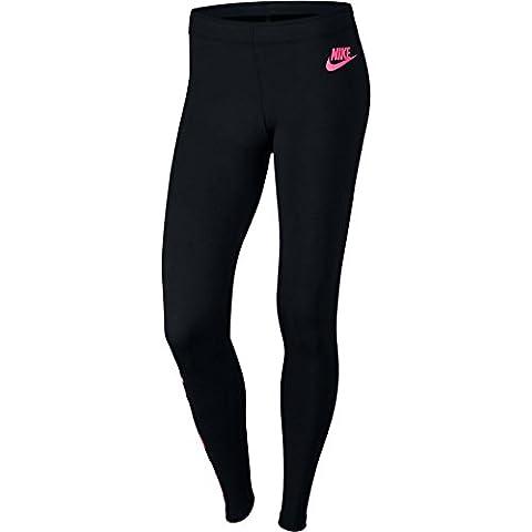 Nike NSW lggng Club JDI Leggings, Damen S Schwarz (schwarz / Rennfahrer-rosa)