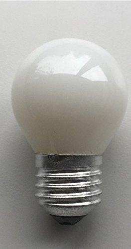15w Kugel (Glühlampe Glühbirne Opal weiß matt Tropfen Kugel E27 15W 15 Watt 230V)