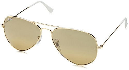 Ray-Ban Unisex Aviator Sonnenbrille Mod. 3025Jm - 0One Size/X3, Gr. 58Mm, Gold (001/3K), 58 mm