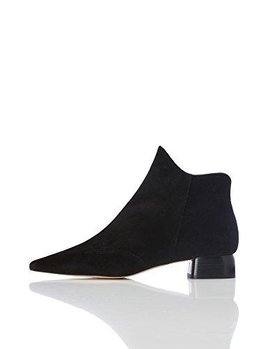FIND Damen Knöchelhohe Stiefel mit spitzer Front, Schwarz (Black), 38 (Schuhe Schwarz Frauen Für)
