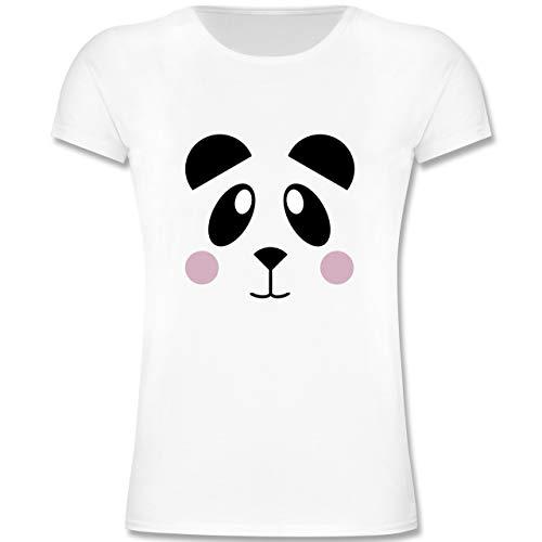 Tiermotive Kind - Panda Shirt süß - 116 (5/6 Jahre) - Weiß - F131K - Mädchen Kinder T-Shirt