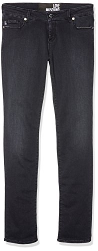 Moschino 5 Pocket Fit Ric Tasca, Jeans Slim Donna, Schwarz (Black 276W), 31W X 35L