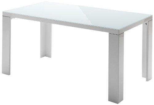 Robas Lund, Tisch, Esszimmertisch, Tizio, Hochglanz/weiß, 200 x 76 x 100 cm, 043200HW