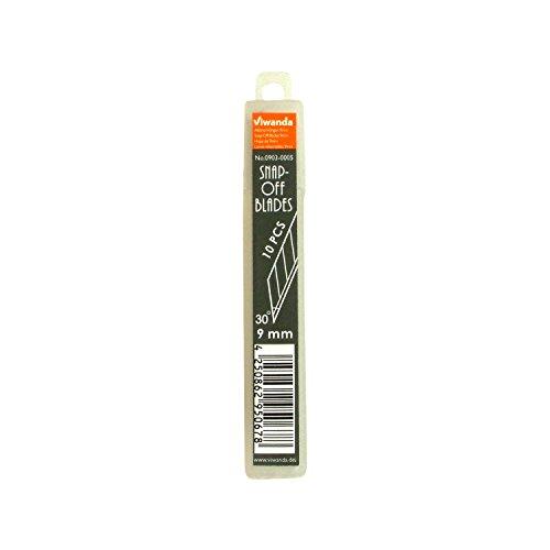 Viwanda Snap-Off Klingen 9mm SK2-Cr Stahl für Motion Präzisions Cutter / Professionelles Messer, mit 30° Klinge für exakte Schneidearbeit, Box mit 10 Stück