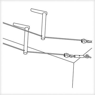 Cable accessories, Diffuser, 1 pair, 170 mm Chrome matt