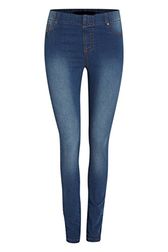 Ex Highstreet Damen Jeanshose blau denim-blau 50 Gr. 50, hell
