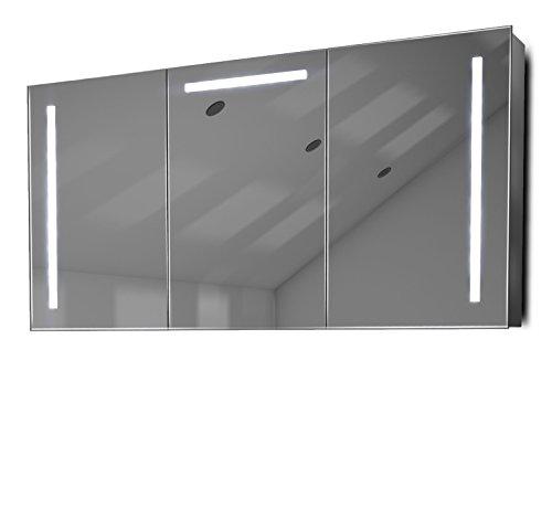 Badschrank mit Entfeuchter, RGB-Unterlicht, Sensor & Rasiersteckd. innen k378rgb (Abgeschrägte Spiegel Kante Schrank)