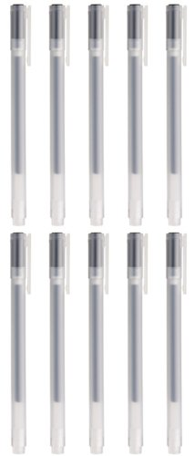 Moma Muji Gel Ink Ball Point Pen, 0.38-mm, Black, 10 Pcs by Moma Muji