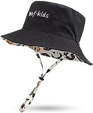 Pesaat Sombrero de verano para bebé, para niños, reversible, protección UV 50+
