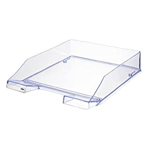 Han Signal C4 Size Stackable Letter Tray - Translucent Pale Blue