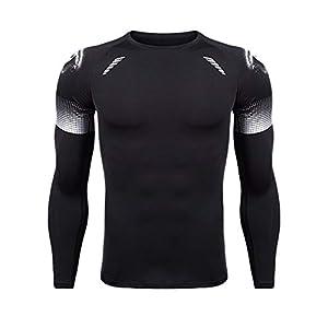 Herren Langarm Kompressionsshirt Shirt Fitness Funktionsshirt Basketball Unterwäsche T-Shirt Unterhemd