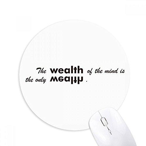 Zitat der Kerzenherstellung Mind ist die nur Reichtum rund rutschfeste Gummi Mauspad Spiel Büro Maus Pad Geschenk