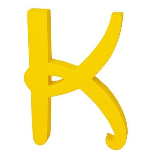 Holzbuchstaben, extragroß, Disney Schriftart, frei stehend , holz, gelb, Letter K