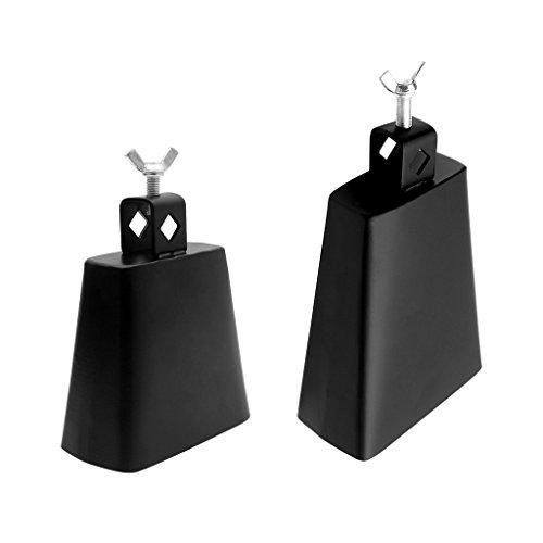 2 x Kuhglocken mit 2 x Schlägel Türklingel, Jubel Glocke Metall Cowbell mit Mallet