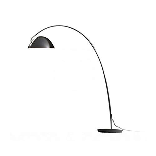 HU HAO UK Stehlampe- Einstellbare Arc Stehleuchte, Fashion Dekorative Stehleuchte mit Eisen Basis, Schwarz