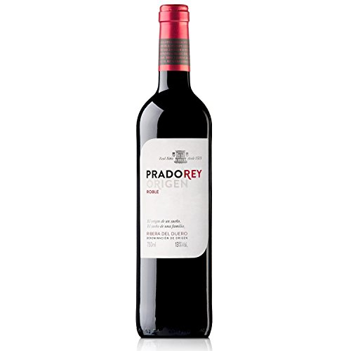 PRADOREY Roble - Vino tinto - Roble - Ribera del Duero - 95%Tempranillo, 3% Cabernet sauvignon, 2% Merlot - Vino joven con ligero paso por barrica - 1 Botella - 0,75 L