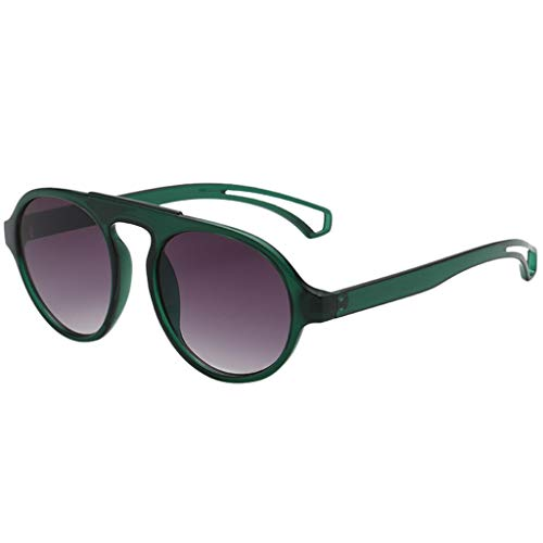 AHAYAKU Fashion Herren Damen Unregelmäßige Form Sonnenbrille Brille Vintage Retro Style