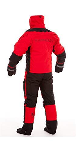 Typhoon Ps330 Extreme Kayak Ozean Drysuit Dry Suit + Con Zip Schwarz Rot. Atmungsaktiv - wasserdicht spritzwassergeschützt