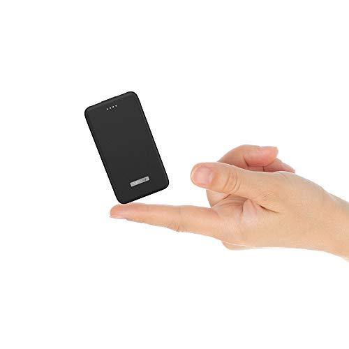 Vancely Powerbank 10000mAh Portable Externer Akku,kompakt Power Bank,mit LED-Leuchten,2 USB Ports und Mehrfachschutz Sicherheit für iPhone, Samsung Galaxy,iPad,Huawei und weitere (Schwarz)