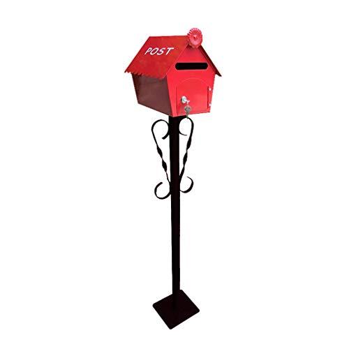 Yuang Briefkasten, Cottage Pole Mailbox Dekorative Fotografie Requisiten Villa Garden Briefkasten (Farbe: A) - Fotografie Cottage