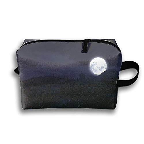 Dark Creepy Horror Spooky Scary Halloween Cosmetic Case Portable Artist Storage Bag Toiletry Jewelry Bags