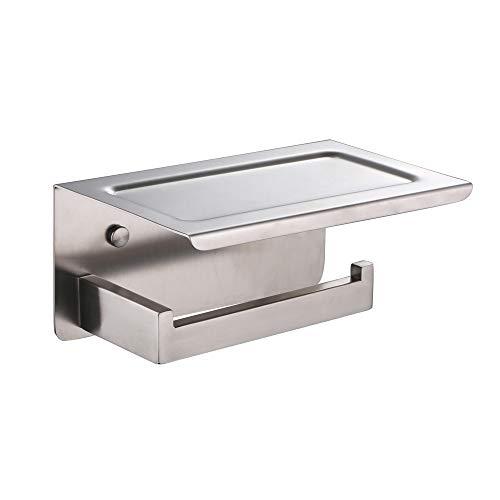 Xvl WC support papier de soie avec téléphone portable étagère de rangement,  Nickel brossé, G318 a-guk