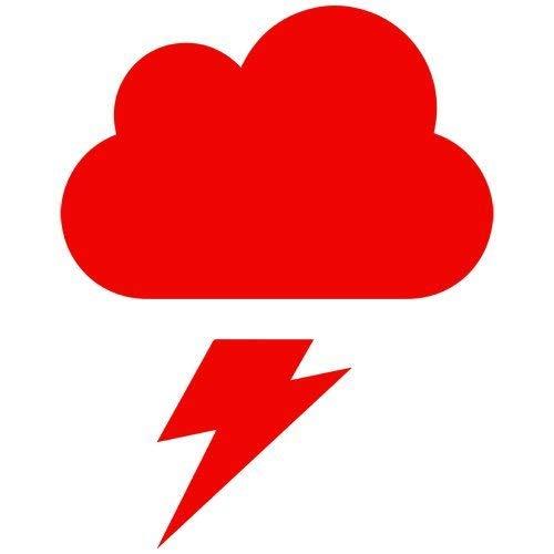 Cloud Wandtattoo (SUPERSTICKI Thunder Lightning Cloud Decal Sticker (red), Decal Sticker Vinyl Car Home Truck Window Laptop ca. 20cm Aufkleber Autoaufkleber Wandtattoo)
