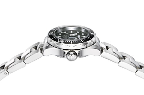 Invicta-Womens-Pro-Diver-Quartz-Watch-with-Black-Dial-Analogue-Display-and-Silver-Stainless-Steel-Bracelet-8939