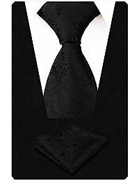 Alizeal Paisley Flor-Juego de Corbata y Pañuelo para Hombre