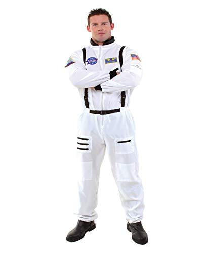 Horror-Shop Weißer Plus Size NASA Astronauten Kostüm-Overall als Berufskostüm & Uniform XL 50/52