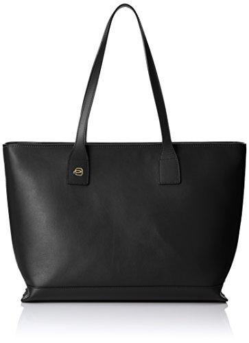 Piquadro Shopping Bag Collezione Antilias Borsa a spalla, Pelle, Nero, 36 cm