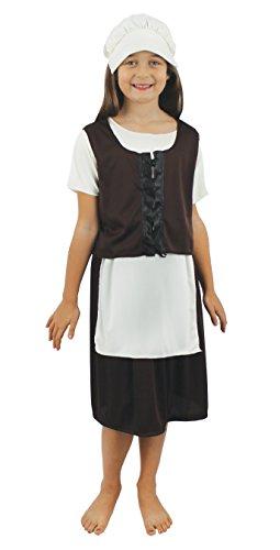 I Love Fancy Dress ilfd7022m niña pobre Tudor Disfraces (tamaño Mediano)