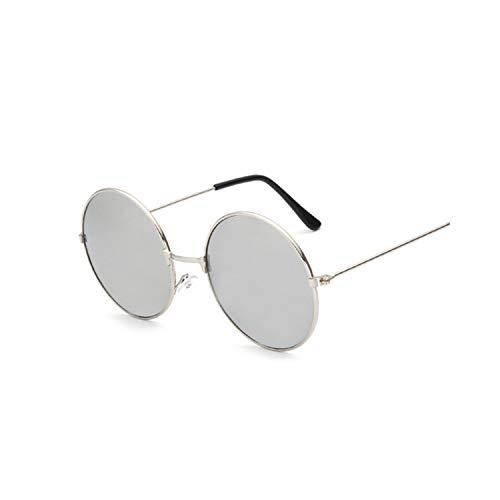 Sport-Sonnenbrillen, Vintage Sonnenbrillen, New Fashion Candy Vintage Round Spiegel Sunglasses Women Luxury Brand Original Design Black Sun Glasses Female Oculos SilverSilver