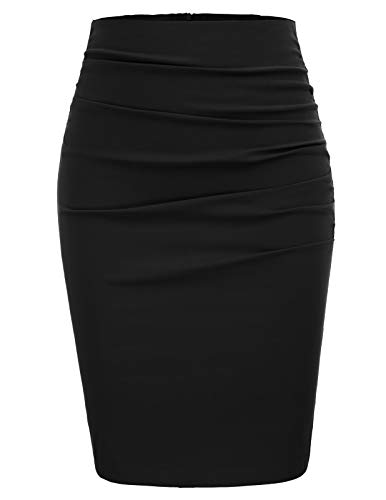 Rockabilly röcke Damen Bodycon Rock Knielang high Waist röcke CL866-1 XL