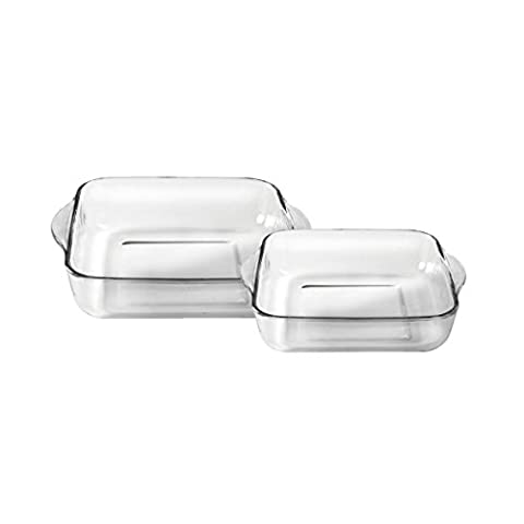 Ravenhead Glass Forum Square Roasting Dishes, Set of 2 by