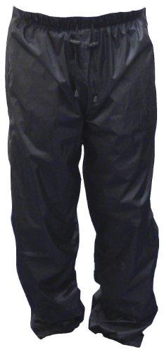 Motorx Motorrad Regenhose mit Reißverschluss, Schwarz, Größe M