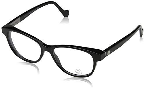 Moncler Unisex-Erwachsene Brillengestelle Ml5014, Schwarz (Nero LUCIDO), 52