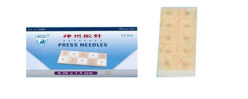 Shenzhou - Agujas permanentes (0,26 x 1,4 mm, auriculoterapia)