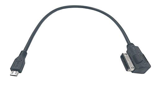duttek Audi Mico bis Ami MDI MMI AUX Auto Audio Kabel, Micro USB auf Audi Interface AMI MDI MMI Adapter Kabel für Audi S5TT A4A5A6A8Q5Q7, VW Jetta GTI GLI Jetta Passat Mirco, (Ami) Audi Audio-kabel