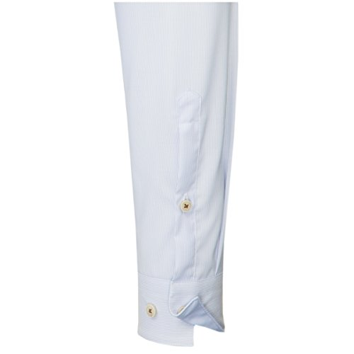 UNO Super Slim Hemd Langarm Stretch Streifen hellblau Hellblau