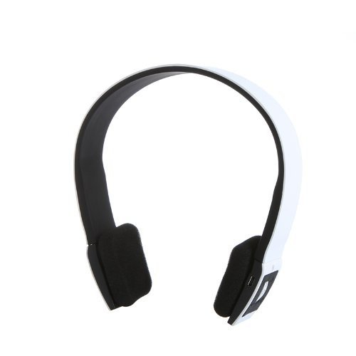 Andoer 2.4G Wireless Bluetooth V3.0 + EDR Headset Kopfhörer mit Mikrofon für iPhone iPad Smartphone Tablet PC (Schwarz) Bluetooth Headset Voice-dial