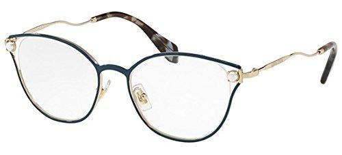 Miu Miu Brillen PEARL VMU53Q BLUE Damenbrillen