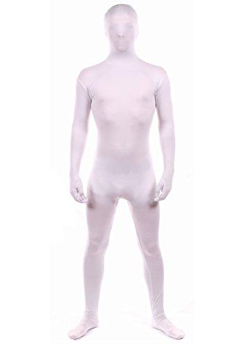 Luxus-Ausgabe: Weiß Lycra Catsuit von Stretchy Suits (Männer: Groß)
