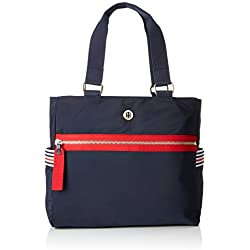Tommy Hilfiger - Youthful Nylon Tote, Bolsos totes Mujer, Azul (Corporate), 30x11x32 cm (B x H T)