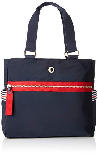 Rot Nylon Tote (Tommy Hilfiger Damen Youthful Nylon Tote Blau (Corporate) 30x11x32 cm)