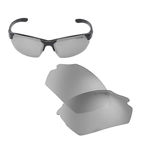 Walleva Ersatzlinsen für Smith Parallel Max, Titanium Mirror Coated- Mr. Shield Polarized