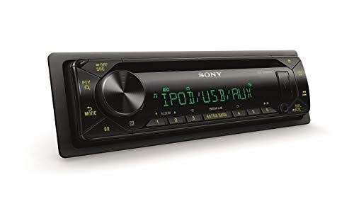Sony CDXG3200UV.EUR Autoradio, CD-Player, USB/AUX-Eingang, 4x 55 Watt, Extra Bass, Colour Illumination 35.000 Farben schwarz