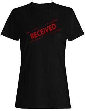 Recibió sello divertido vintage camiseta de las mujeres f481f