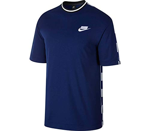 Nike Herren M NSW NSP TOP SS Check T-Shirt, Void/Royal Blue/White, M